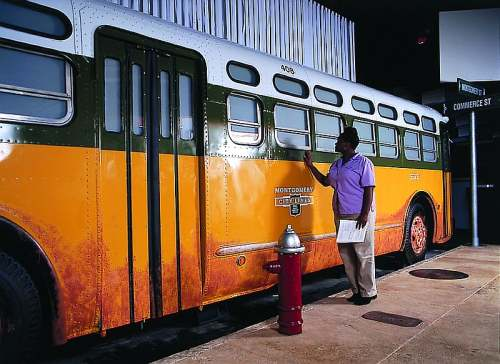 Montgomery, Alabama, Rosa Parks Museum Bus, photo by Montgomery Tourism