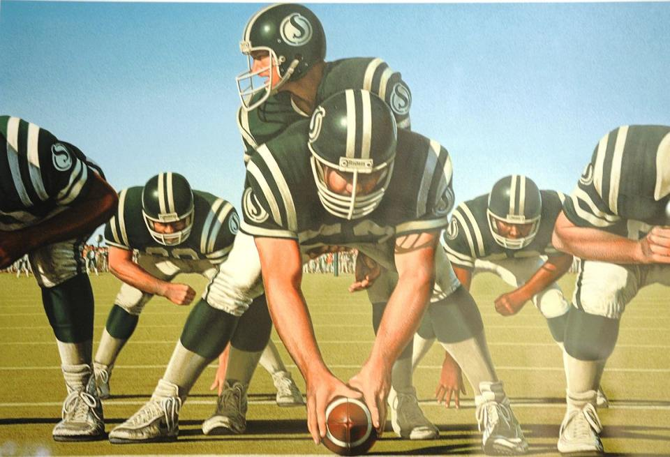 Ken Danby Painting - Sports Hall Of Fame