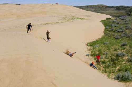 Good old fashion fun is enjoyed in the Sand Hills Park near Sceptre
