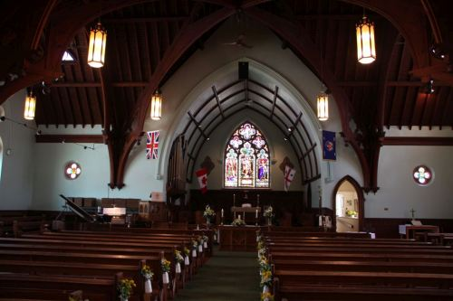 Inside Trivett Memorial Anglican Church
