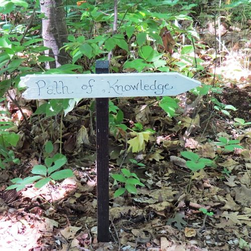 Path sign, photo by Mike Keenan
