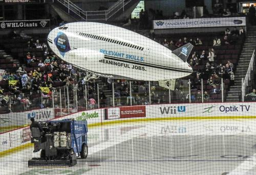 Vancouver Giants,Blimp & Zamboni, photo by Mike Keenan