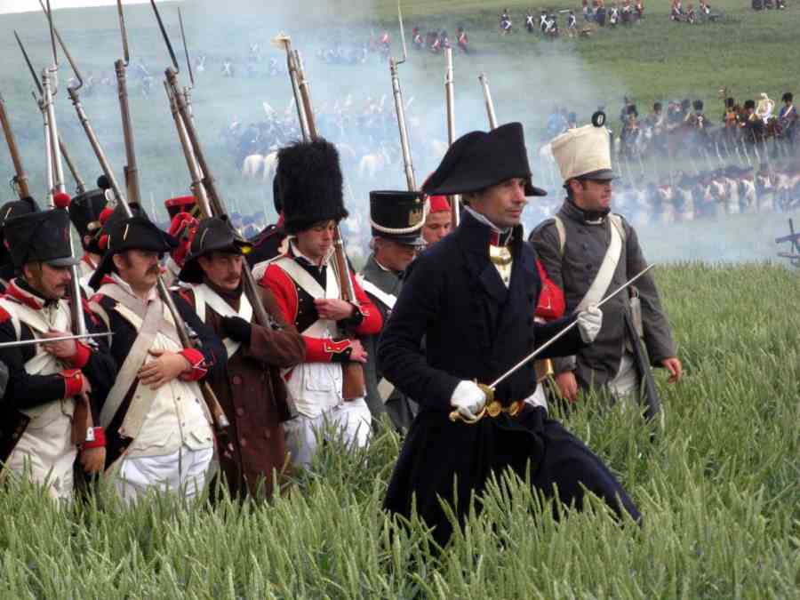 Battle Of Waterloo - Advancing Soldiers