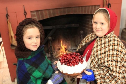 Two young volunteers at Westfield Heritage Village