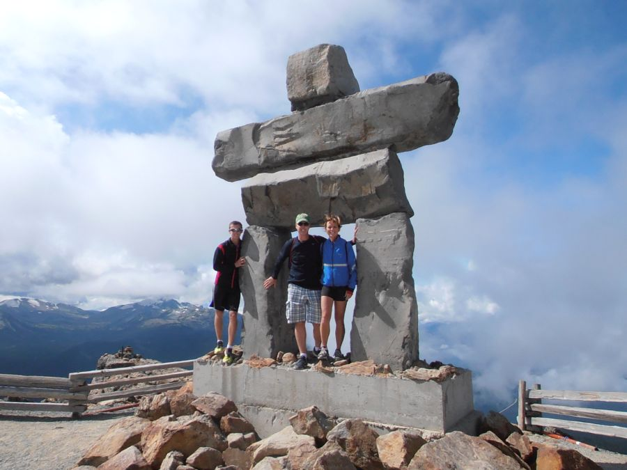 Masters Family on the summit of Whistler Mountain