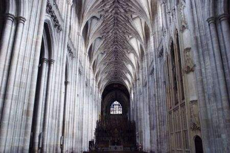 The Nave Inside Winchester Cathedral