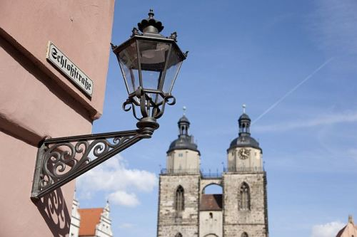 The Old Town And City Church Of Wittenberg