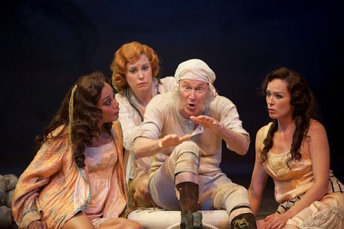 Cherissa Richards as Lady Agatha Lasenby, Nicole Underhay as Lady Mary Lasenby, David Schurmann as The Earl of Loam and Moya OConnell as Lady Catherine Lasenby