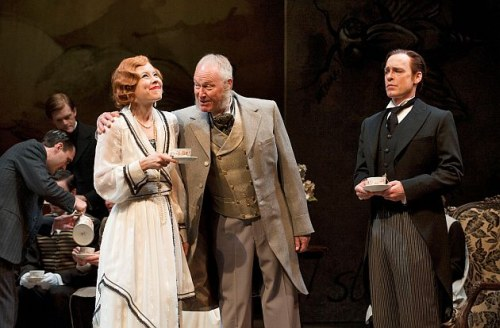 Nicole Underhay as Lady Mary Lasenby, David Schurmann as The Earl of Loam and Steven Sutcliffe as Crichton