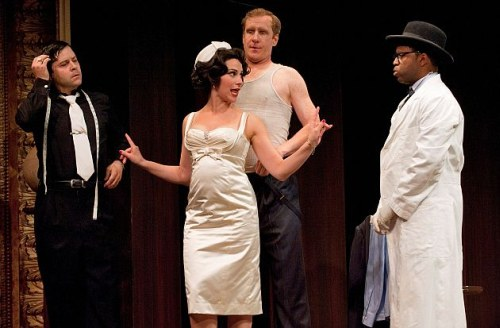 Andrew Bunker as The Tailor, Julie Martell as Lydia, Jeff Meadows as Tony Foot and Kevin Hanchard as Dr Faber
