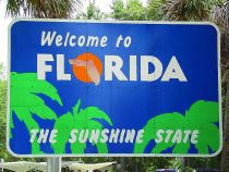 Florida Welcome Sign, photo by Dave Hunter
