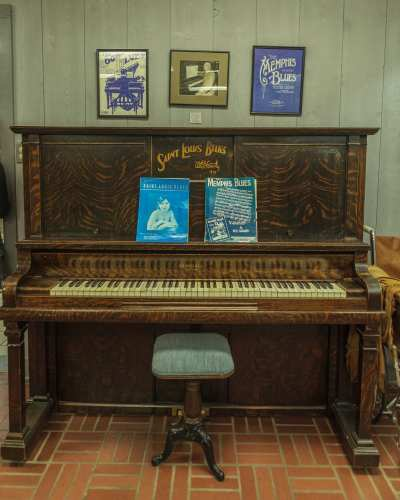The piano on which W.C. Handy first played such classics as St.Louis Blues