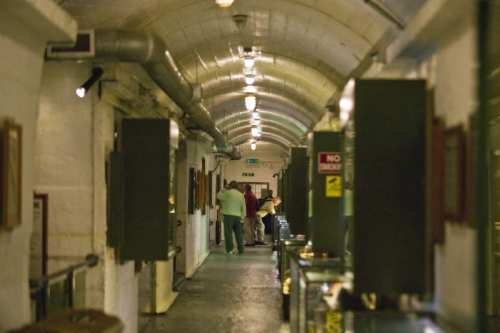 La Valette in the tunnels that once stored fuel for German U-boats. Photo Visit Guernsey, Chris George
