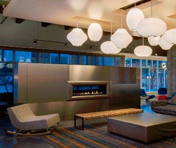Lobby fireplace courtesy Aloft