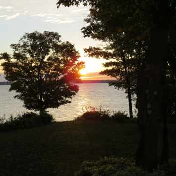 Rockville Inn sunrise over Lake Manitou, photo by Mike Keenan