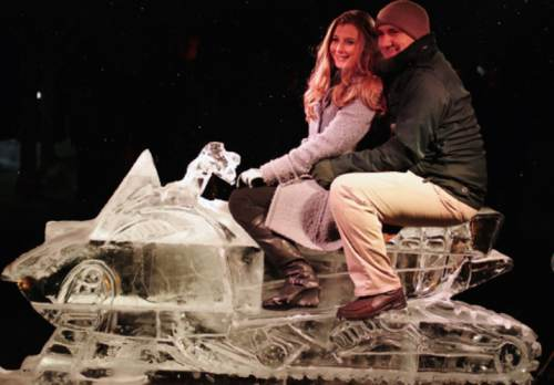 Winter Ice Sculpture, photo supplied by hotel