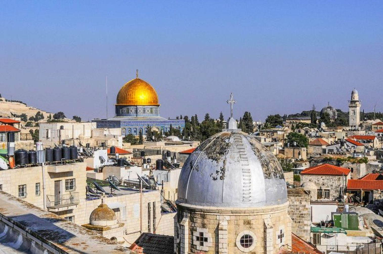 View of Dome of the Rock from Austrian Hospice, photo by Mike Keenan