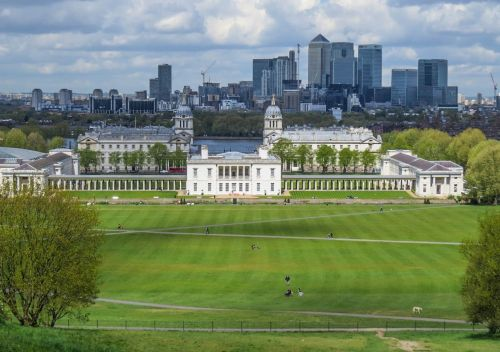 UNESCO World Heritage Site, Canary Warf in background, Greenwich, photo by Mike Keenan