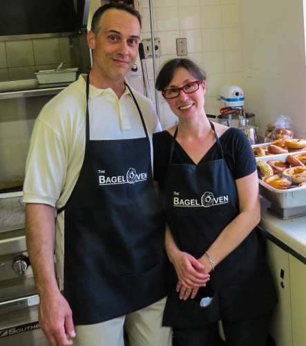 Steve & Jess Bretzlaff, The Bagel Oven, photo by Mike Keenan