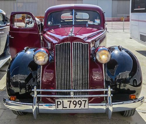 Our 1939 Packard, Napier Art Deco Vintage Car Tour, photo by Mike Keenan