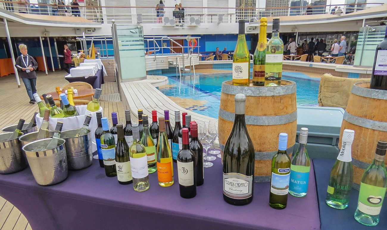 Wines aboard Holland America MS Noordam, photo by Mike Keenan