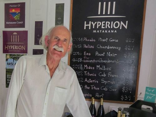 John Crone, owner & winemaker, Hyperion Winery, Matakana, New Zealand, photo by Mike Keenan
