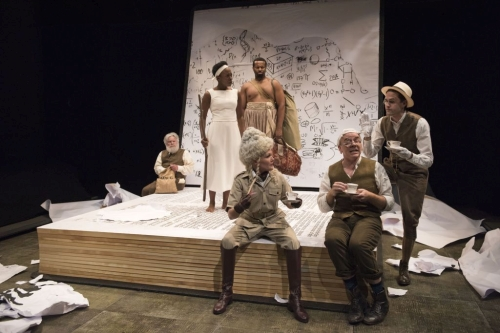 The cast of The Adventures of the Black Girl in Her Search for God. Photo by David Cooper