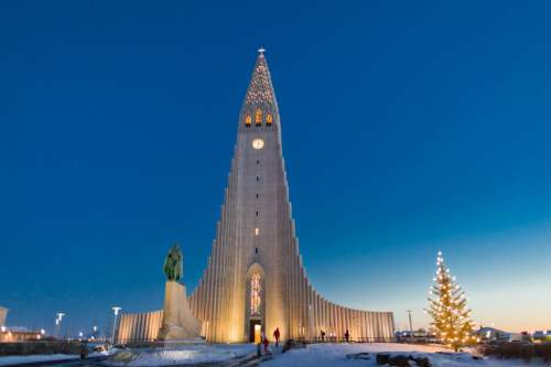 Hallgrímskirkja Evangelical-Lutheran church, photo by Visit Iceland