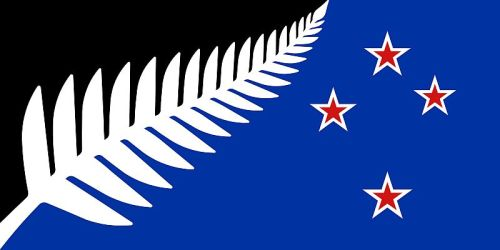 Silver Fern, Black White and Blue, photo by Government of New Zealand