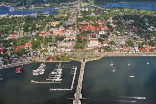Aerial view, photo by Visit St. Augustine