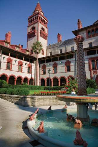 Flagler College Courtyard, photo by Visit St. Augustine