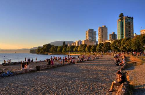 English Bay Beach at Sunset, photo by Visit Vancouver