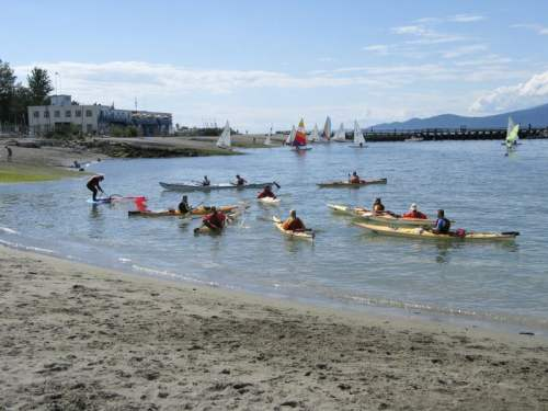 Kayakers at Jericho Beach, photo by Visit Vancouver