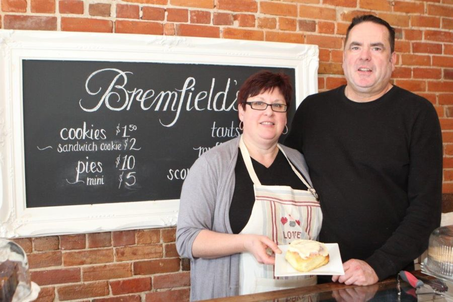 Bonnie and Rob Byleveld,owners of Bampfield's Bakeshop,cafe and Floral Shop