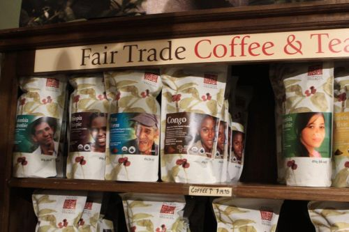 Fair trade Coffee is available at Ten Thousand Villages gift store