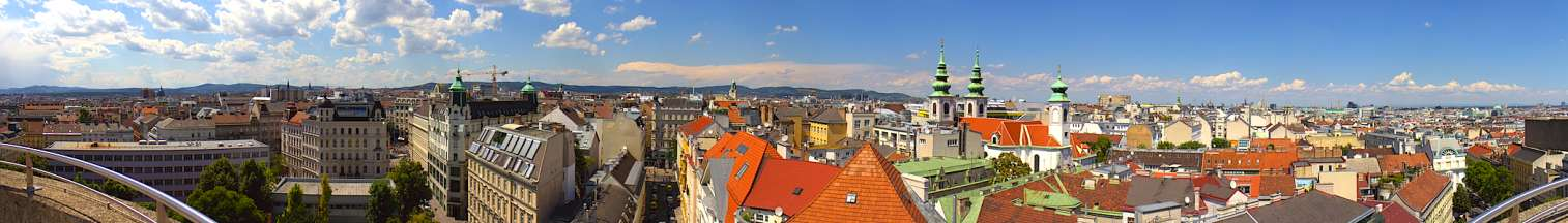 Looking above the rooftops in Vienna Austria